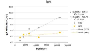 Flow cytometry detection of sustained humoral immune response (IgG + IgA) against native spike glycoprotein in asymptomatic/mild SARS‑CoV‑2 infection